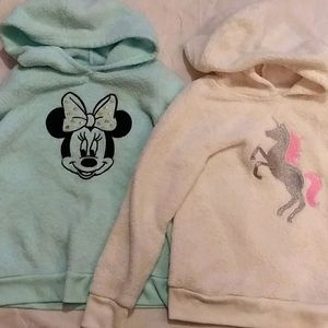 Girls size 5 hooded sweatshirts